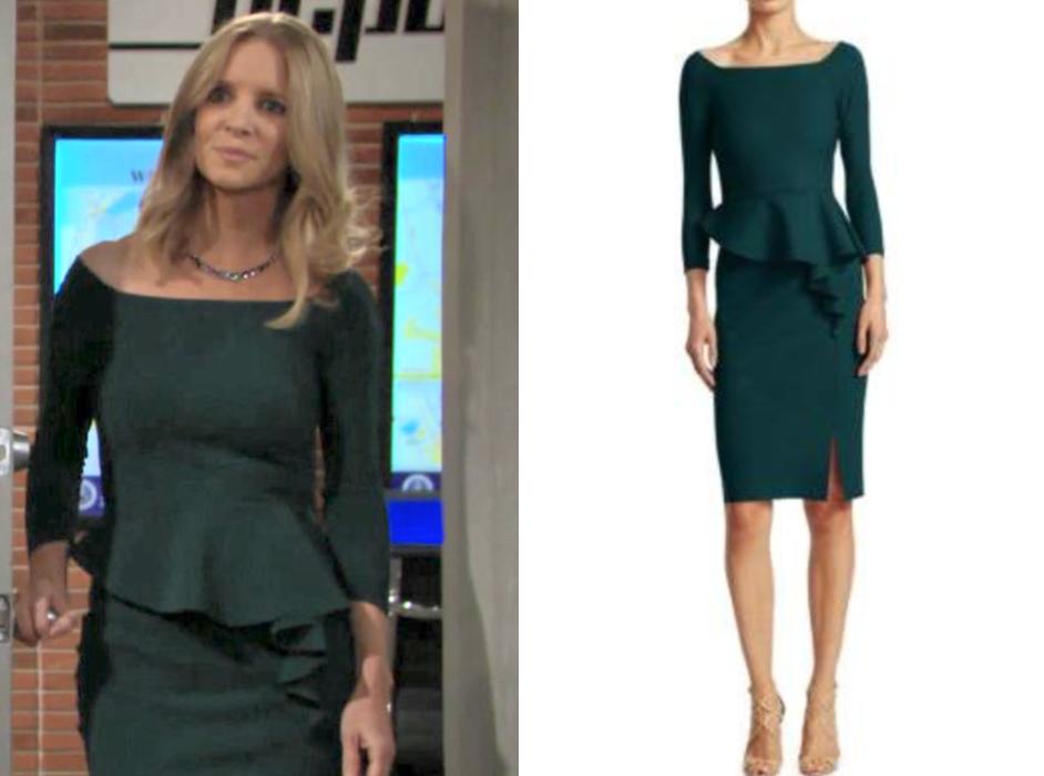 Chiara Boni La Petite Robe Peplum Knee-Length Sheath Dress, christine blair,