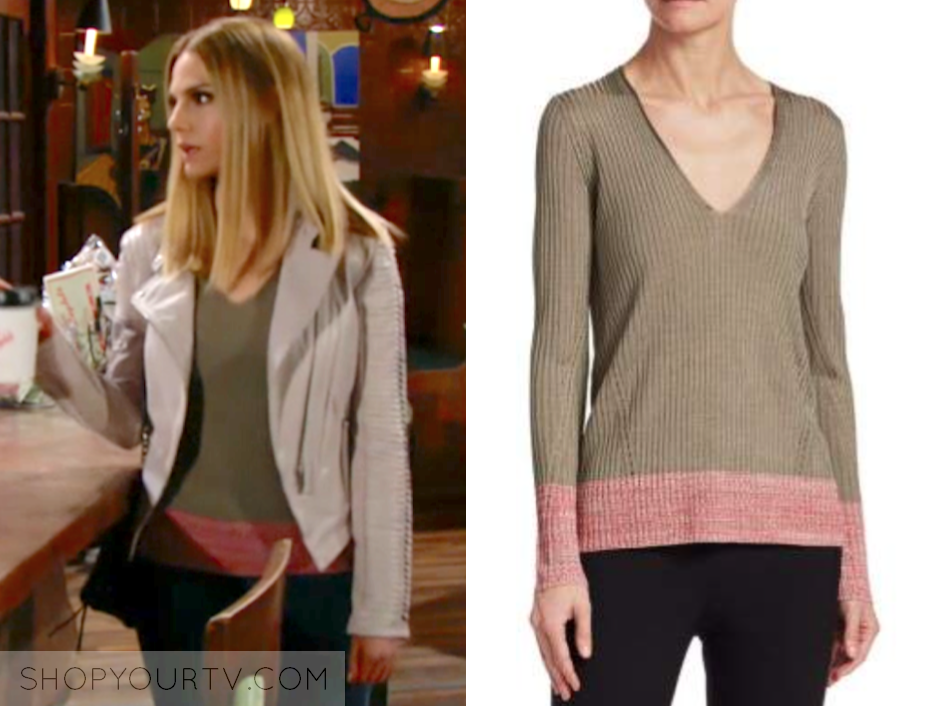 Rag & Bone Alyssa Contrast V-Neck Sweater