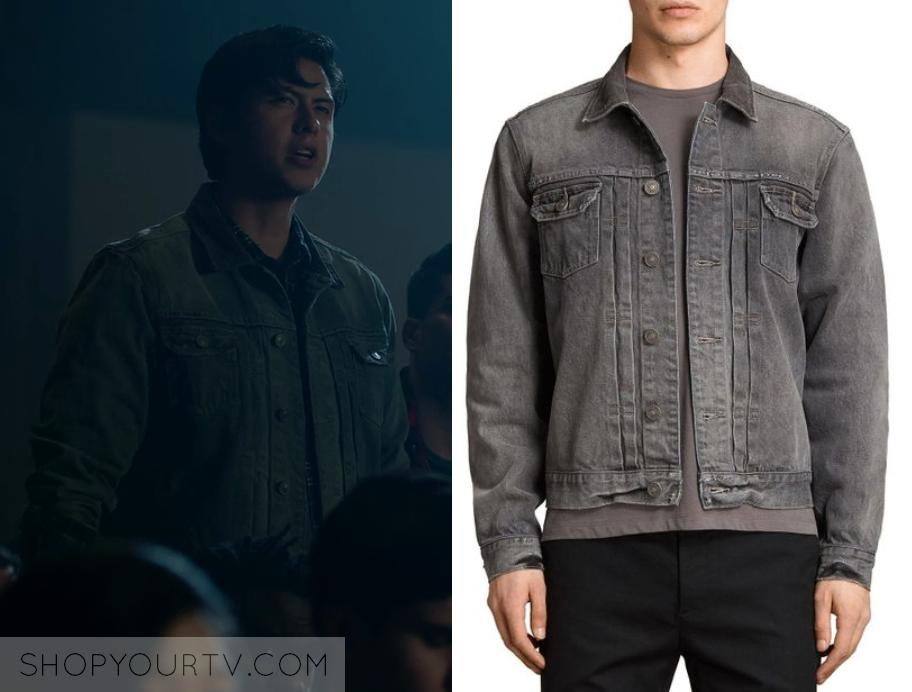Riverdale: Season 2 Episode 17 Sweet Pea's Grey Denim Jacket