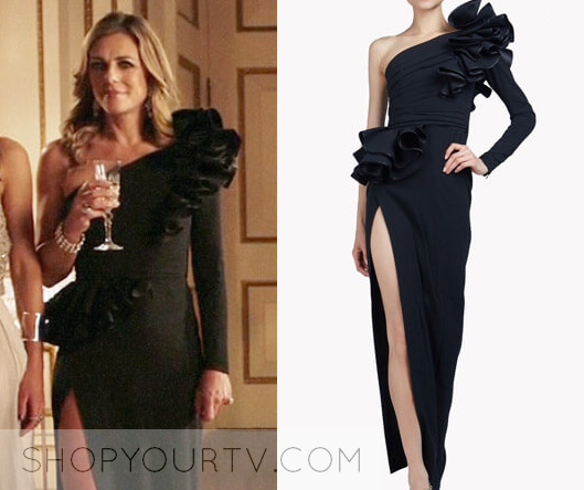 The Royals Season 4 Episode 6 Helenas Black One Shoulder Gown