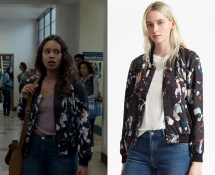 13 Reasons Why Season 2 Episode 8 Jessicas Printed Bomber Jacket
