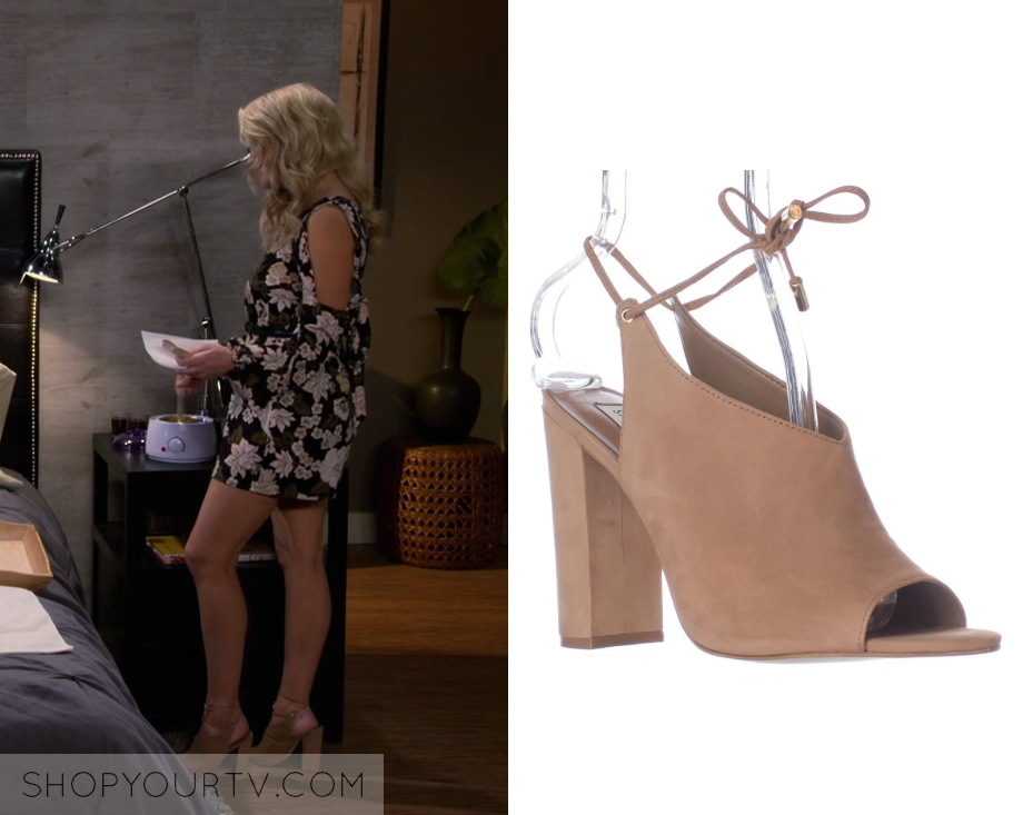 fff92aaad427 Young and Hungry  Season 5 Episode 13 Gabi s Tan Lace Up Heels