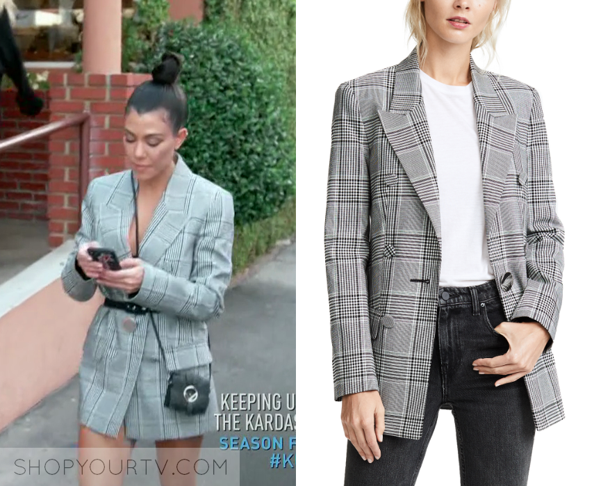 a8ccb5b485f3 KUWTK: Season 14 Episode 19 Kourtney's Plaid Blazer | Shop Your TV