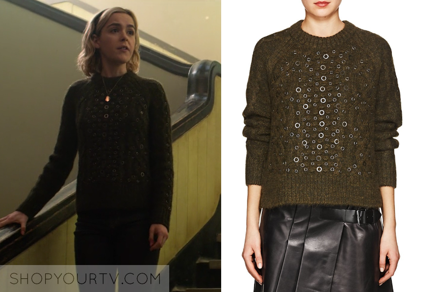 64c03a3d911417 Chilling Adventures of Sabrina: Season 1 Episode 2 Sabrina's Grommet Sweater  | Shop Your TV