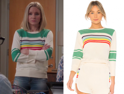 The Good Place: Season 3 Episode 6 Eleanor's Rainbow Striped Green
