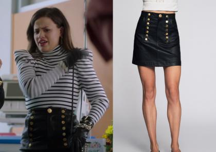 Charmed: Season 1 Episode 2 Maggie's Button Front Mini Skirt   Shop
