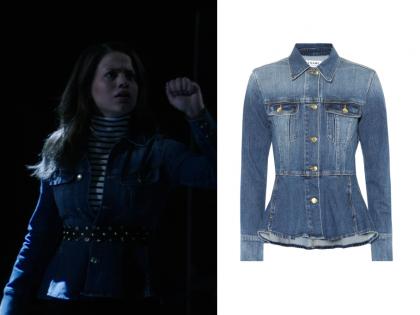 Charmed: Season 1 Episode 2 Maggie's Peplum Denim Jacket