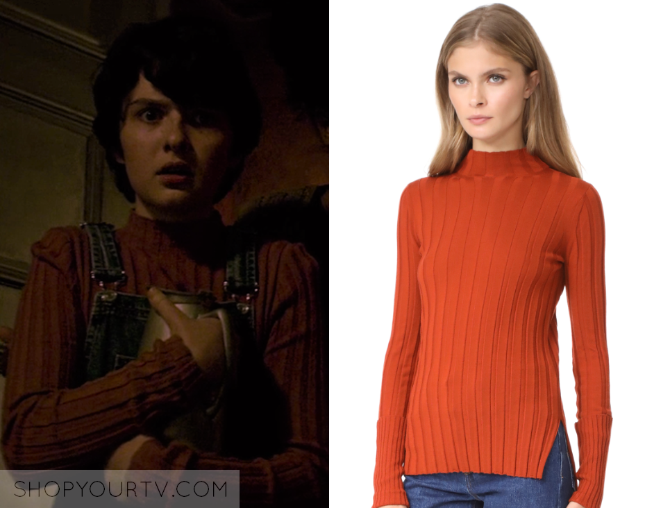 00246bdf61e035 Chilling Adventures of Sabrina: Season 1 Episode 4 Susie's Rust Mock Neck  Ribbed Sweater | Shop Your TV