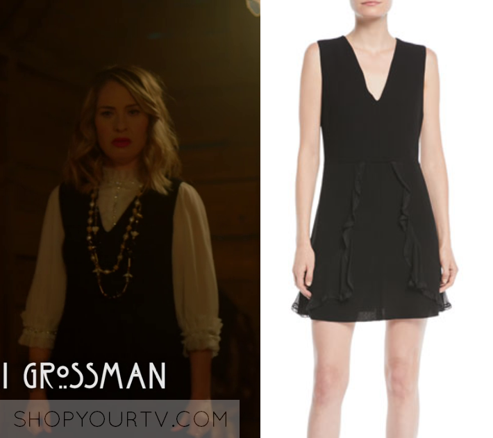 0a1ad7935d6 American Horror Story  Season 8 Episode 10 Coco s Black V Neck Dress