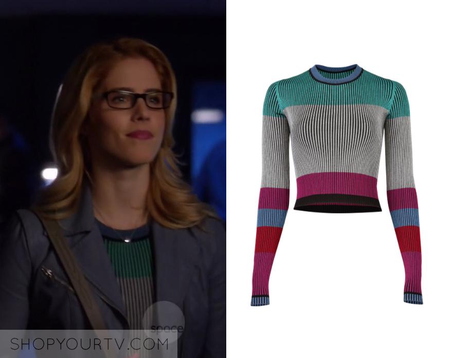Arrow: Season 7 Episode 9 Felicity's Striped Pullover