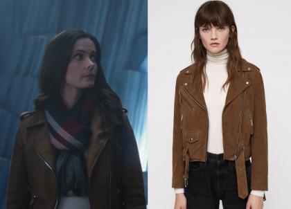 Supergirl: Season 4 Episode 9 Lois' Brown Biker Jacket | Shop Your TV