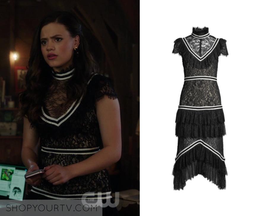 Charmed: Season 1 Episode 8 Maggie's Ruffled Midi Dress | Shop Your TV