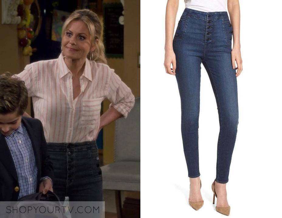 c5cd598833 Fuller House  Season 4 Episode 4 DJ s Blue Button Denim Jeans
