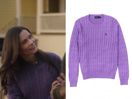 Supergirl: Season 4 Episode 9 Lois' Purple Cable Knit