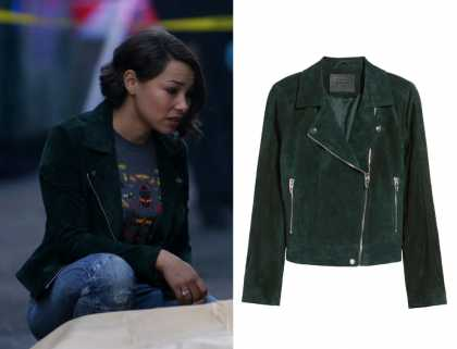 The Flash: Season 5 Episode 11 Nora's Green Moto Jacket