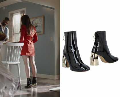 014afa353dd9 Dynasty  Season 2 Episode 13 Fallon s Leather Ankle Boots
