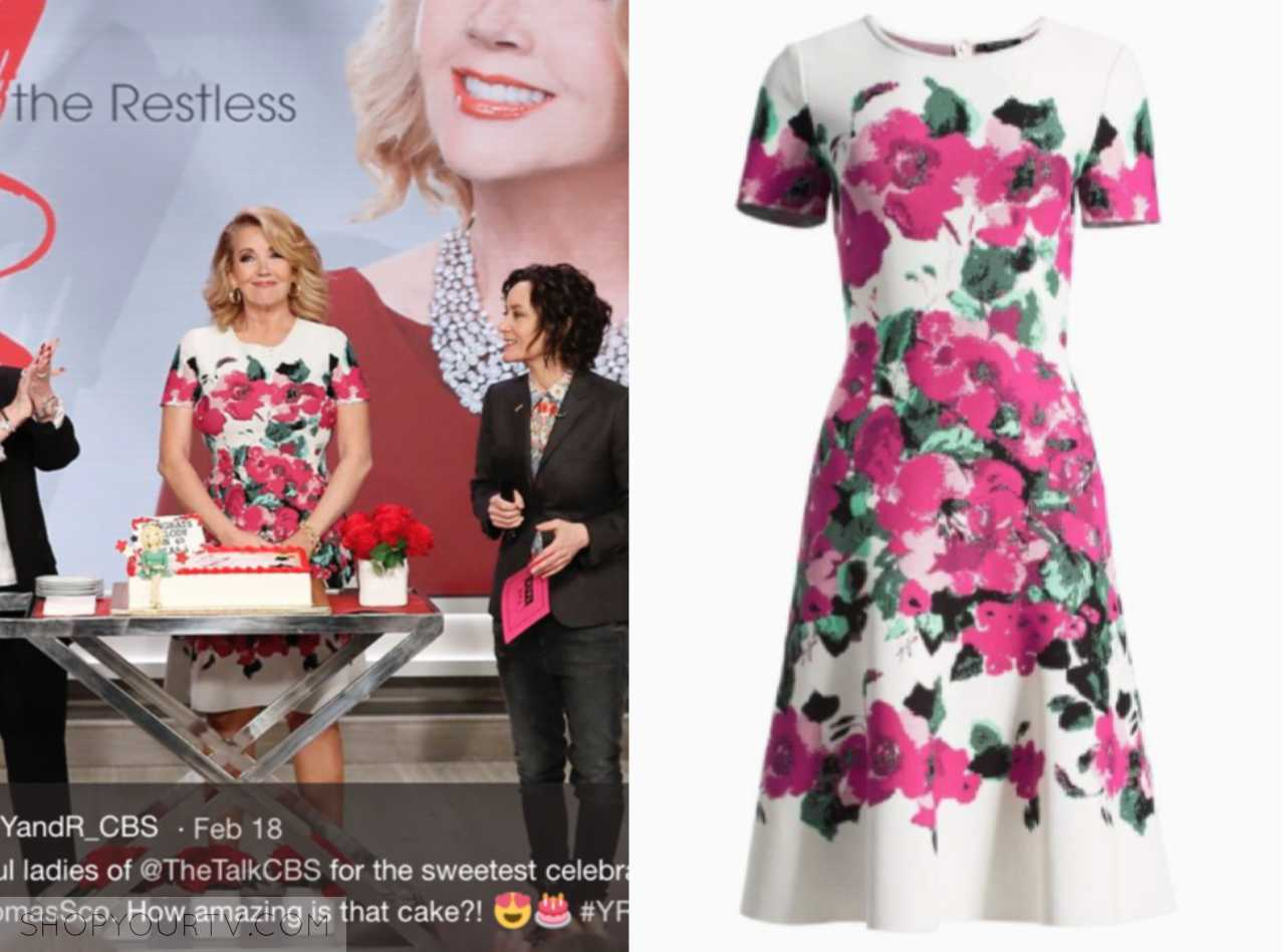 melody thomas scott's floral dress, the talk, wardrobe, fashion, outfit, clothes, style,