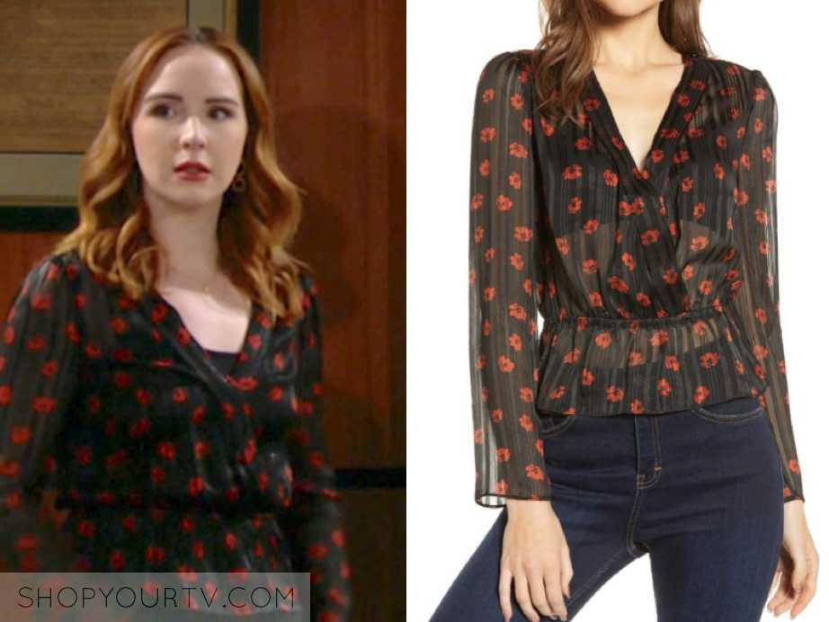 mariah's top, the young and the restless, outfit, wardrobe, fashion, style, clothes
