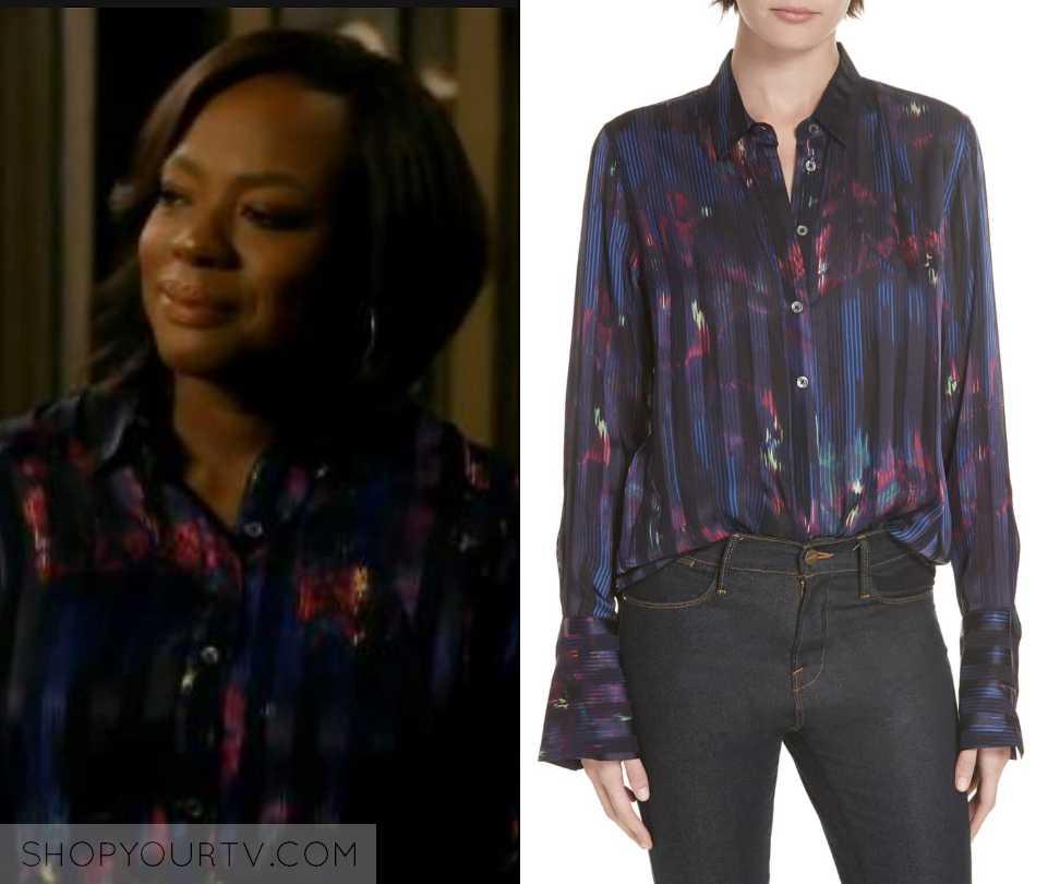 a2bb7197511d6 HTGAWM  Season 5 Episode 13 Annalise s Purple Striped Print Blouse