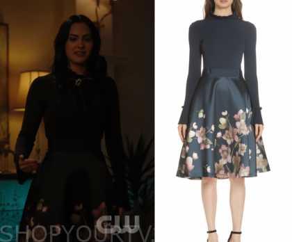 844758e10 Riverdale: Season 3 Episode 17 Veronica's Floral Print Midi Dress ...