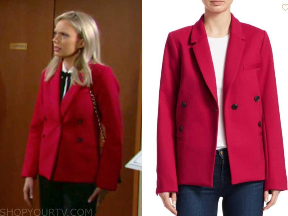 jacket, fashion, costume, wardrobe, outfit, wearing, style, soap opera