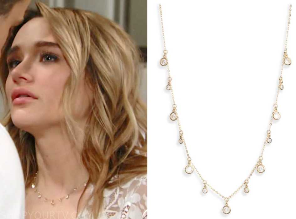 46a9803b231 The Young and the Restless  March 2019 Summer s Bridal Multi-Crystal Drop  Necklace
