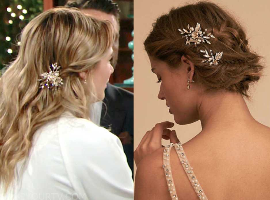 dc59ee89c23 The Young and the Restless  March 2019 Summer s Embellished Bridal Hair  Piece