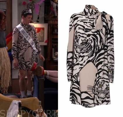 b4492cc41a Will and Grace  Season 2 Episode 17 Will s Tiger Print Dress
