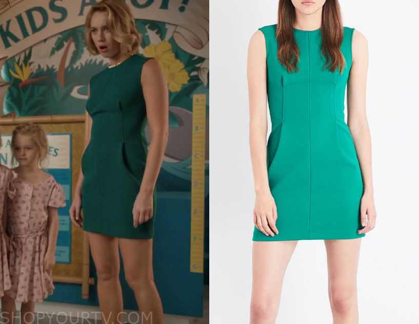 3f1bdb642d Jane the Virgin  Season 5 Episode 3 Petra s Green Sleeveless Mini Dress