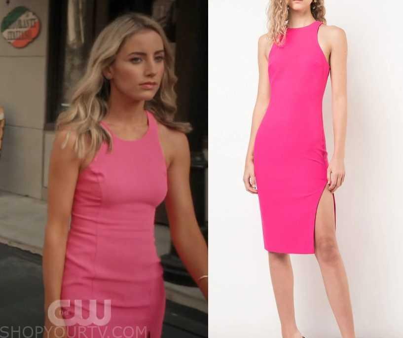 aa02749e65 Jane the Virgin  Season 5 Episode 4 Elsa Ana s Pink Midi Dress