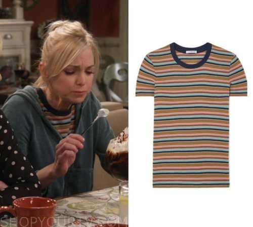 b73b14afefa Mom  Season 6 Episode 20 Christy s Striped T Shirt
