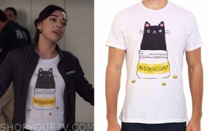 Lucifer : Season 4 Episode 9 Ella\'s Antidepressant cat shirt ...