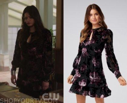 Charmed: Season 1 Episode 22 Mel's Velvet Floral Dress