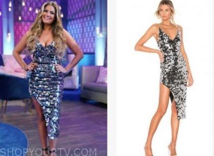 3f4fd41b Vanderpump Rules: Season 7 Reunion Brittany Cartwright's Silver Sequin Midi  Dress