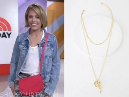 The Today Show May 2019 Dylan Dreyer S Gold Charm Layered Necklace Shop Your Tv