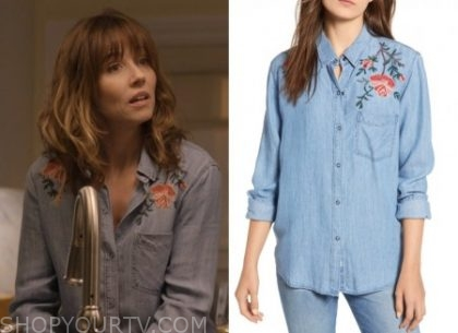 Dead To Me: Season 1 Episode 2 Judy's Embroidered Chambray