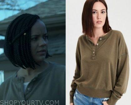 Swamp Thing: Season 1 Episode 3 Liz's Green Henley | Shop