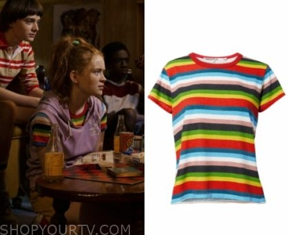 Stranger Things: Season 3 Max's Rainbow Striped Tee | Shop Your TV