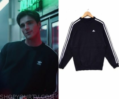 Euphoria: Season 1 Episode 7 Nate's Black Adidas Sweater