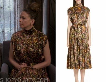 Younger: Season 6 Episode 9 Liza's Floral Silk Dress | Shop