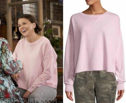 Younger: Season 6 Episode 9 Liza's Cropped Sweatshirt | Shop