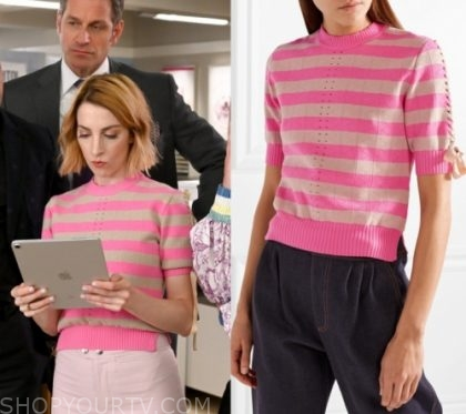Younger: Season 6 Episode 8 Lauren's Pink Striped Sweater | Shop Your TV
