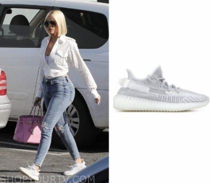 kardashian white sneakers