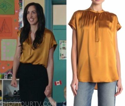 Workin' Moms: Season 3 Episode 2 Kate's Yellow Silk Blouse