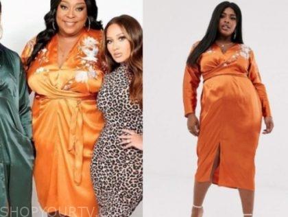 loni love, the real, orange dress
