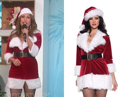 carrie ann inaba santa dress costume