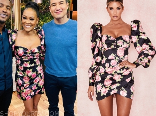 robin givens floral dress