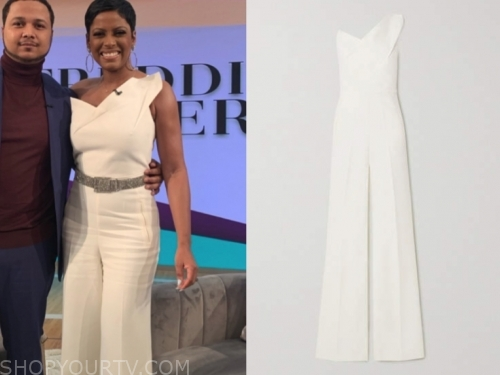 tamron hall's white jumpsuit
