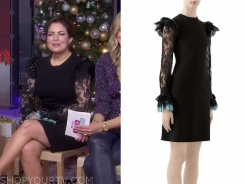 bobbie thomas's black lace dress