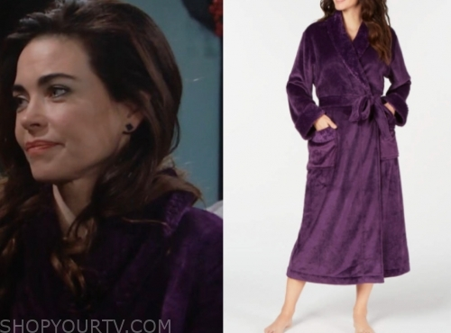 victoria's purple plush robe